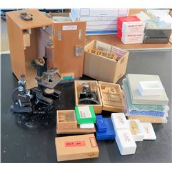 Vintage Microscope, Microscope Slides (RM-122)