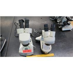 Qty 2 Flinn & Wolfe Stereo Microsccopes w/ Eyepieces (RM-122)