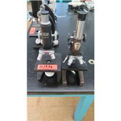 Qty 2 Kyowa & Swift Microscopes w/ Objectives (RM-122)