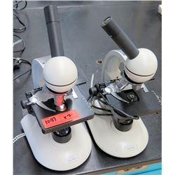 Qty 2 Wolfe Microscopes w/ Objectives & Eyepieces (RM-122)