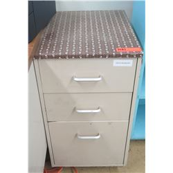 Metal 3-Drawer Cabinet (bottom drawer for files) (RM-122)
