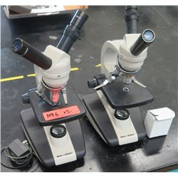 Qty 2 Ken-a-Vision Microscopes w/ Objectives & Eyepieces (RM-122)