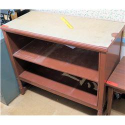Wood & Metal Shelving Unit (RM-122)