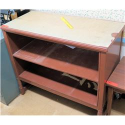 Wood & Metal Shelving Unit (RM-122)