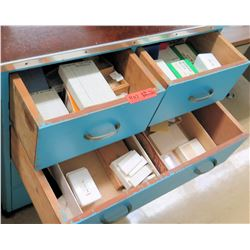 Contents of Drawers, Microscope Slides (RM-122)
