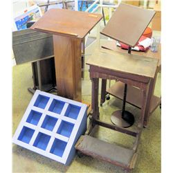 Misc. Podiums, Stool, Side Table, 3-Step Stool (RM-306)