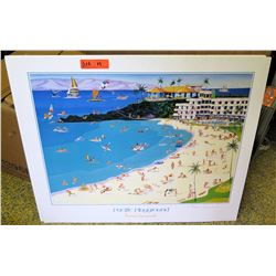 3 Pacific Playground Mounted Prints, Signed Roman Czerwinski, Original Signature (RM-306)