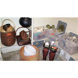 Woven Baskets, Decorative Dishes, Stemware, Planter Pots (RM-306)