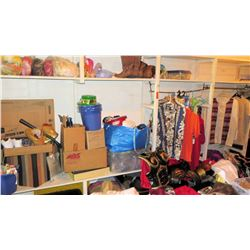 Large Lot of Aloha Shirts, Costumes, Props, Clothing, Shoes (RM-306)