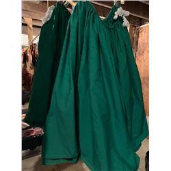 3 Solid Green Hula Skirts (RM-306)