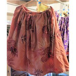 17 Desert Pink Hula Skirts w/ Leaf Pattern (RM-306)