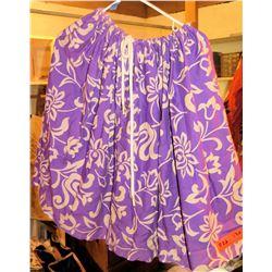 30 Purple & White Hula Skirts (RM-306)
