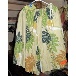 17 Tan Hula Skirts w/Green & Brown Leaf Pattern (RM-306)