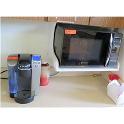 Emerson Microwave & Keurig Coffee Maker (RM-406)