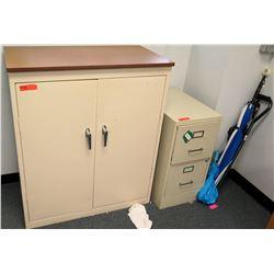Metal Storage Cabinet & 2-Drawer File Cabinet (RM-501)