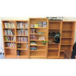 Qty 3 Wooden Shelving Units (RM-501)