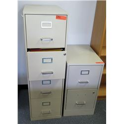 4-Drawer File Cabinet & 2-Drawer File Cabinet