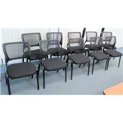 Qty 10 Upholstered Chairs with Netted Backing (CONF.RM)