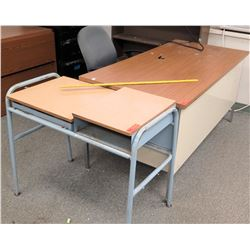 Work Desk (missing drawer), Small Desk w/ Rolling Chair (RM-608)