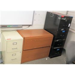Qty 3 Misc. File Cabinets (RM-608)