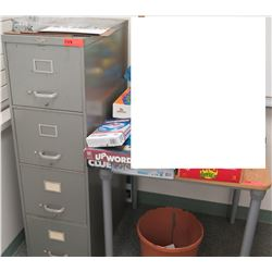 4-Drawer File Cabinet & Wood-Top Table (RM-608)