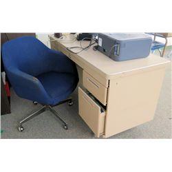 Metal Desk w/ Rolling Chair (RM-608)