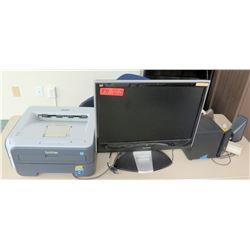 ViewSonic Monitor, Printer, Speakers (RM-608)