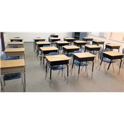Qty 21 Desks w/ Chairs (RM-607)
