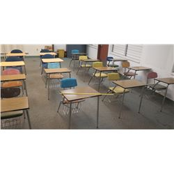 Qty 19 Desks w/ Chairs (RM-605)