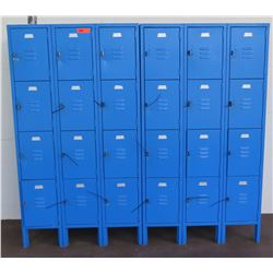 Qty 24 Metal Storage Lockers