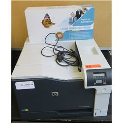 HP CP5225 Laserjet Printer & Unused Toner Cartridge (RM-204)