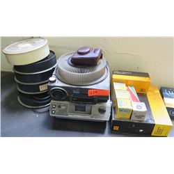 Qty 2 Kodak Slide Projectors & Extra Carousels & Accessories (RM-204)