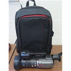 Sony Mini DV Camera & Backpack Case