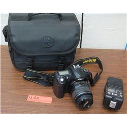 Nikon D50 Digital Camera, Lens, Flash, Case