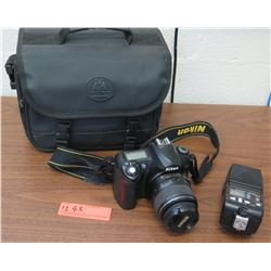 Nikon D50 Digital Camera, Lens, Flash, Case (RM-204)