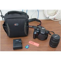 Canon EOS Rebel T3 Digital Camera, Lens, Battery Charger, Case