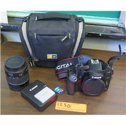 Canon EOS Rebel XSi Digital Camera, Lens, Battery Charger, Case (RM-204)