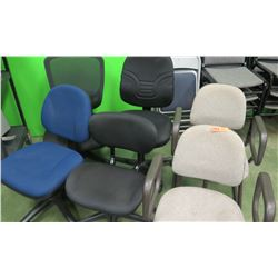 10 Office Chairs & 4 Folding Metal Chairs (RM-204)