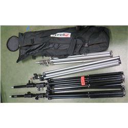 Qty 4 Tripods, 1 Carrying Case