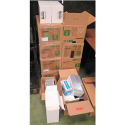 Large Lot of Unused CD/DVD Cases, Brown Padded Envelopes (RM-204)