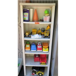 Contents of Shelving (shelving not included) - Toys, Trucks, etc (PRE-1)