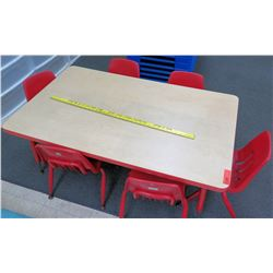 Preschool Kids' Wood Table & 6 Chairs (PRE-1)