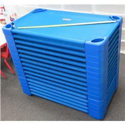 Qty 16 Blue Preschool Nap Cots (PRE-1)