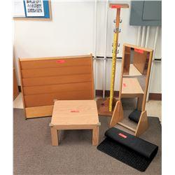 Qty 5 Items - Shelf, Coat Rack, Stool etc