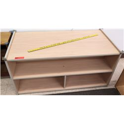 Wood 2 Tier 3 Compartment Shelf (PRE-1)