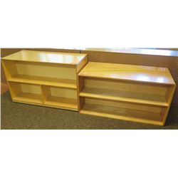 Qty 2 Wood 2 Tier Shelves (PRE-2)