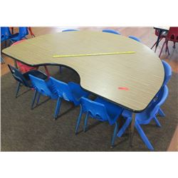 Kidney Table & 9 Chairs (PRE-2)