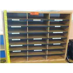 Mail File Shelf w/ 24 Compartments