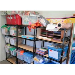 Metal Shelves w/ Christmas, Science Supply etc (PRE-2)