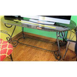 Stone & Wrought Iron Table